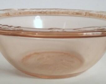 Vintage Tiara Pink Glass Mother Goose Bowl