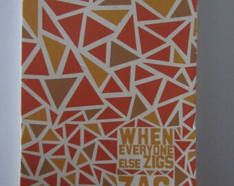 "Journal - ""Stripes"" Theme - orange and brown tones"
