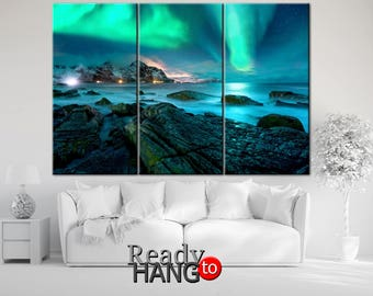 Aurora Borealis canvas, Aurora Borealis art, Aurora Borealis print, Aurora canvas, Aurora wall art, Aurora Borealis, Aurora Borealis picture