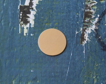 "Nickel Silver Round Stamping Blank - Metal Stamping Blank - Pack 10 - 24 Gauge - 3/4"" Circle - Jewelry Stamping Blank - SGMET-600.25G"
