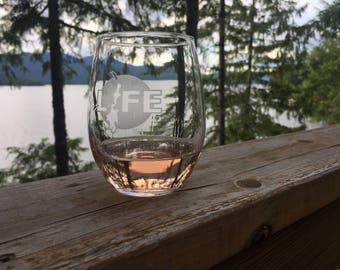 Priest Lake | (x4) Lake Life Wine Glasses