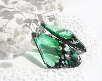 Mint earrings for Mother gift from daughter gift Butterfly earrings Statement jewelry Bright earrings romantic Large earrings sister gift