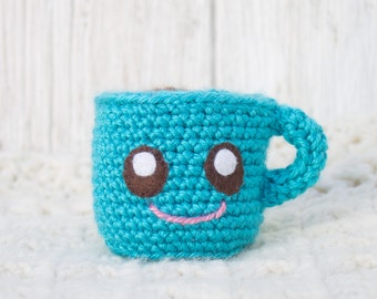 Plush Coffee Cup - Coffee Gift - Coffee Lover Gift - Gift for Coffee Lover - Crochet Coffee Cup - Personalized Coffee Cup - Office Decor