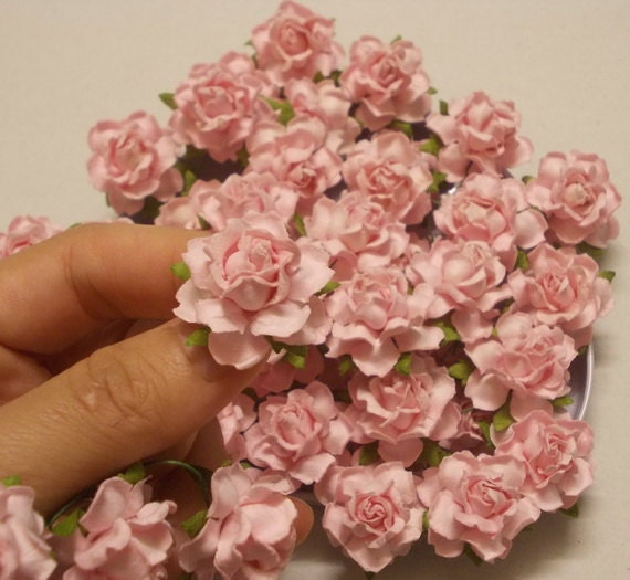25 paper flowers size 1 mulberry paper craft flower paper flower 25 paper flowers size 1 mulberry paper craft flower paper flower craft wedding wedding bouquets and crafts light pink paper roses from sjsupplies42 mightylinksfo