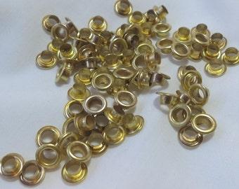 50 or 100 gold eyelets 8mm - UK seller