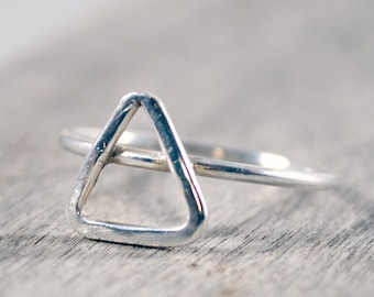 Four Elements Ring. Alchemy Ring. Sterling Silver Ring. Air Symbol. Water Symbol. Fire Symbol. Earth Symbol.Birthday Gift For Her.Meaningful