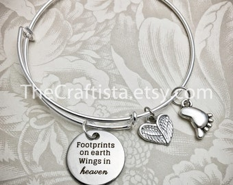 MB, Miscarriage Bangle, Remembrance Bracelet, Memory Bracelet, Infant Loss, Pregnancy Loss, Loss of a Child, Memorial Jewelry, Angel Bangle