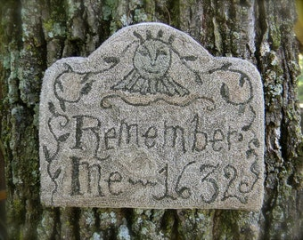 Remember Me 1632 - Primitive Punch Needle PAPER Pattern - from Notforgotten Farm™