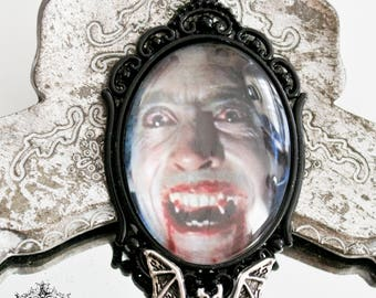 Dracula pendant,necklace-gothic Dracula necklace-Christopher Lee-gothic horror jewelry-30X40mm