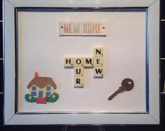 New Home Scrabble Art