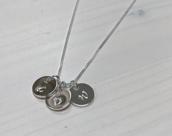 Personalised Silver Initial Disc Necklace