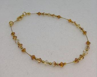 Shades of Gold Swarovski Crystal Anklet