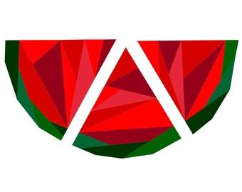 Geometric Watermelon Foundation Paper Piecing Pattern