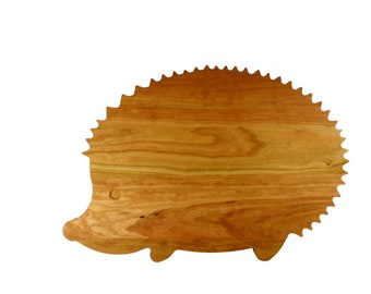 """Cute Hedgehog Cutting Board - Cherry - """"Mothers Day Gift"""""""