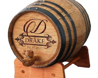 Personalized Wine Barrel, Bourbon Barrel, Whiskey Barrel, Gifts for Groomsmen, Groomsman Gift, Personalized Whiskey Barrel 1 or 2 or 3 Liter