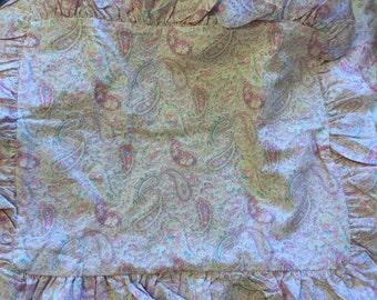 Rachel Ashwell Shabby Chic pinkPaisley ruffel Pillow Cover