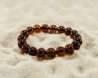 Amber bracelet, cherry round natural amber bead bracelet (more sizes) 4948, 4763