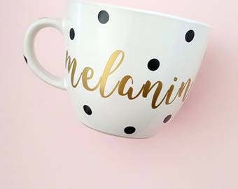 Coffee Mug, Melanin, Melanin Mug, Black Girl Magic, Coffee Mugs, Tea Mugs, Mugs, Bla and Gold, Burgundy Mug, Gift for Her, Tea Mug, 16 oz