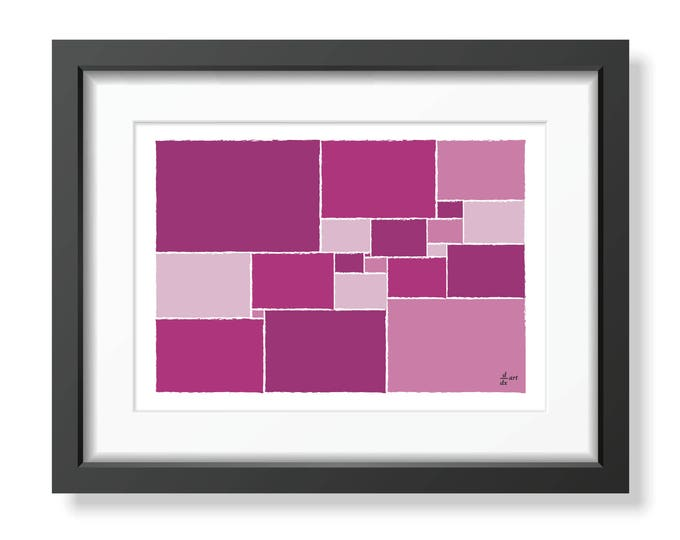 Squared square stretched 01 [mathematical abstract art print, unframed] A4/A3 sizes