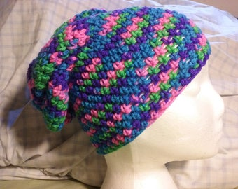 Colorful Crochet Beany Hat