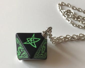 Elder thing etsy call of cthulhu necklace d8 dice necklace dungeons and dragons dice jewelry elder sign geek pendant aloadofball Choice Image
