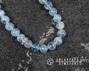 Translucent Aquamarine Bracelet - Jewelry For Her, For Him, Natural Aquamarine Jewelry, Aqua Blue Bracelet, Birthday Gift