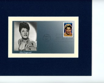 The Queen of Jazz - Ella Fitzgerald and First Day Cover of her own stamp