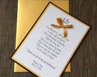 Will You Be My Bridesmaid Card Black and Gold