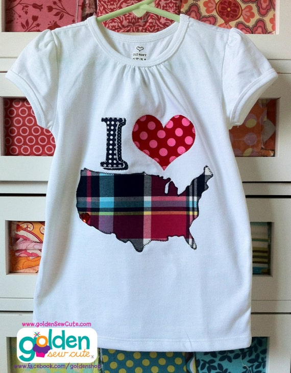 4th of July I love the USA, America, Fourth of July, July 4, Independence Day, Shirt or Dress