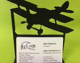Biplane Desktop Business Card Holder
