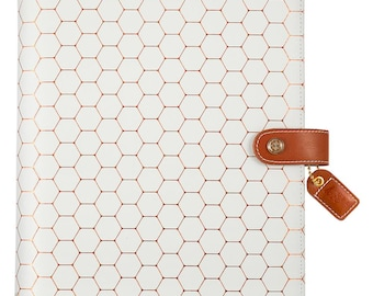 Copper Hexagon Color Crush Composition Planner • Free Washi Tape (CP001-H)