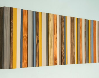 Reclaimed Wood Art, Ready to ship, Modern office decor, reclaimed wood wall art sculpture, costomize