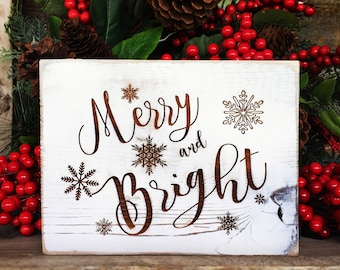 Farmhouse Merry and Bright Sign