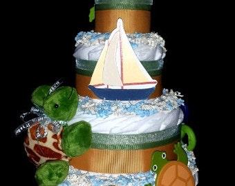 Turtle Island Diaper Cake