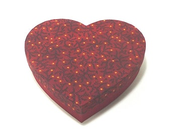 Heart Shaped Box,Red Gift Box, Cartonnage, Keepsake Box, Item Storage, Wedding Box
