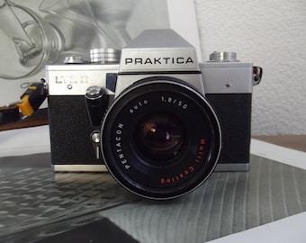 vintage Praktica LTL3 mirror reflex camera, photo camera 1970s, Pentacom