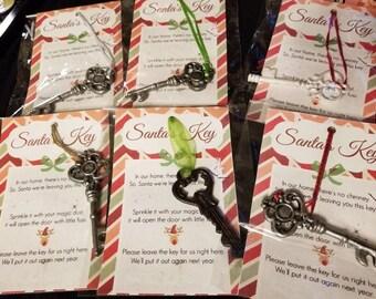 Metal Santa's key with poem