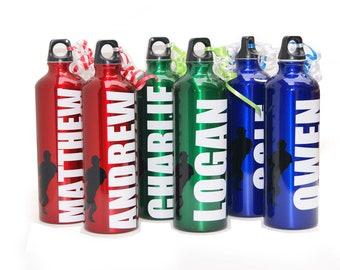 Personalized Aluminum Water Bottle - 25 fl.oz. -Baseball, Basketball, soccer, football, sports theme