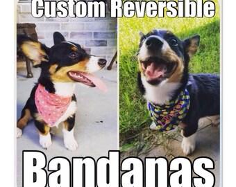 Custom Reversible Bandanas, Personalized Bandanas