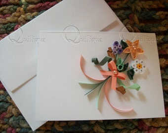 Custom Gift Card / Paper Quilled Card / Paper Quilled flowers / Gift Card / Personalized Gift Card / Wedding Gift Card