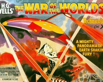 War Of The Worlds Movie Poster Digital Print Various Sizes