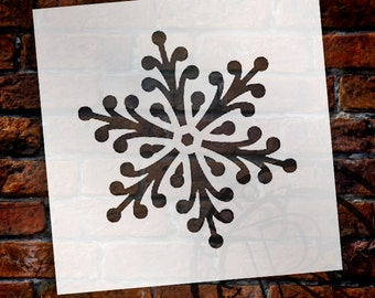 Pearlescent Snowflake Stencil by StudioR12 - Christmas, Holiday, Santa, Painting, Large, Window, Mixed Media, Chalk- SELECT SIZE- STCL1570