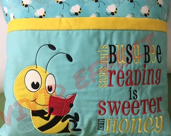 Reading Busy Bee Pillow