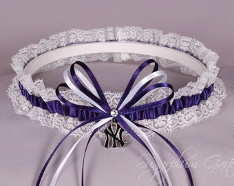 New York Yankees Lace Wedding Garter - Ready to Ship