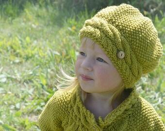 KNITTING PATTERN  Hat - Hat knitting pattern -  Knit hat for baby - Baby knit hat - Slouch hat pattern - Baby knitting pattern - Hat pattern
