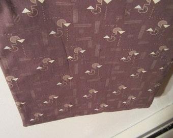 Men's Brown and Tan Geometric Pattern Plastic Lined Wet Bathing Suit Bag