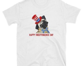Fourth of July Pug T-Shirt