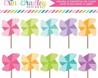 80% OFF SALE Instant Download Pinwheels Clipart Clip Art for Personal & Commercial Use Digital Designs