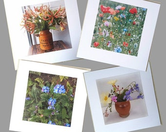 Wildflower photo cards, from my own photos. 6in x 6in