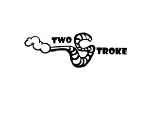 Custom Two Stroke Sticker